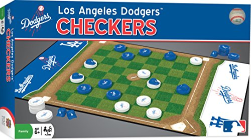 (MasterPieces MLB Los Angeles Dodgers Checkers Board Game)