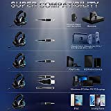 ONIKUMA II Stereo Gaming Headset for PS4, Xbox One, PC, Nintendo Switch, Noise Cancelling Over Ear Headphones with Microphone, Soft Earmuffs, Surround Sound, Volume/Mic Control 3.5mm for Laptop Mac