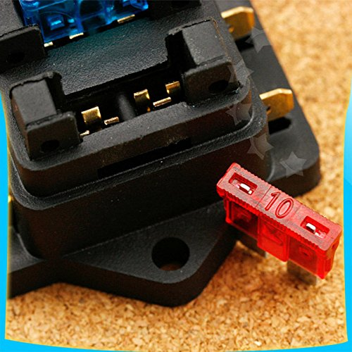 linghang 4 way circuit standard car block auto blade fuse. Black Bedroom Furniture Sets. Home Design Ideas