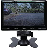 PONPY 7 Ultra Thin HD 800x480 Color TFT LCD Screen 2 Channel RCA Video Input Car Rear View Headrest Monitor for Car DVD/VCR/STB/Backup Camera/Satellite Receiver