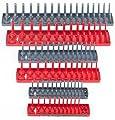 "Hansen 6pc 1/4 3/8 1/2"" SAE Metric Sockets Trays Holders Set USA Tool Organizer"