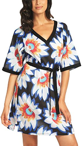 Fantasie Santa Fe Belted 5936 Beach Dress Kaftan Sarong Summer Dress Cover Up Persian Blue - Santa Outlet Store Fe