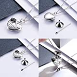 MANBU 925 Sterling Silver Cremation Jewelry for Pet Ash - Memorial Ash Pendant Urn Necklace for Dog Cat Women Remembrance Keepsake Gift for Loss of Loved Furry Friend