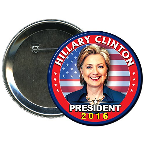 Hillary Clinton-07 Round 2016 Campaign Button (Hillary Clinton Campaign Buttons)