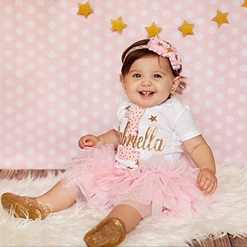 Baby Girl 1st Birthday Outfit First In