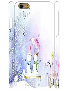 Custom Treasure Snowman Pattern Slim Phone Shell Case Fits for Iphone 6 4.7 Inch