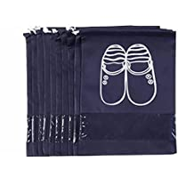 Saiway 10 Pack Shoes Storage Bag, Portable Dust-proof Breathable Travel Shoe Bags