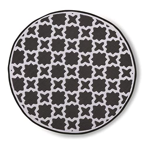 Garden and Outdoor Guide Gear Summer Star Outdoor Rug, Black/White, 6′ Round outdoor rugs