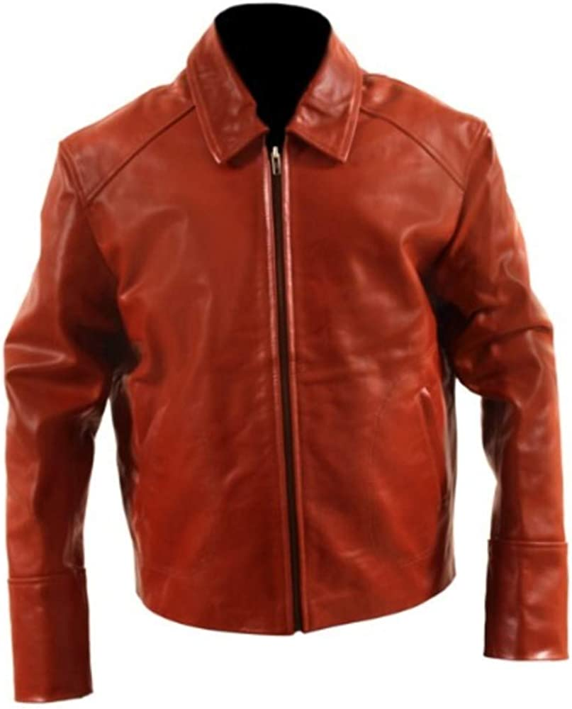 Mens Leather Jacket Cling Outfitters Brown Leather Jacket Men Shirt Collar