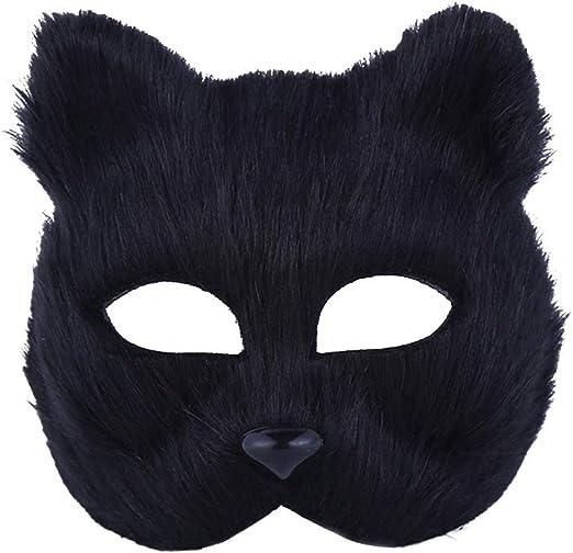 RENNICOCO Máscara de Zorro de Halloween Disfraz de Cosplay Half ...