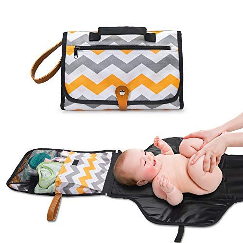 - Diaper Changing Pad for Infants-Portable Diaper Changing Kit for Dads&Moms-Changing Station Organizer for Outdoor&Travel-Play Mat On The Go-Perfect Baby Shower Gift (Rainbow)