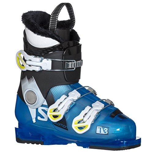 Salomon T3 RT Kids Ski Boots - 22.0/Indigo Blue Translucent-Black -