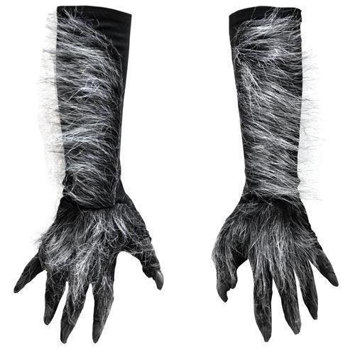 Globe Theatre Costumes - Zagone Killer Wolf Gloves, Grey Fingers