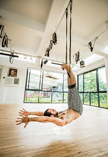 FlyHighYoga Hanging Belt - Ultra Strong Aerial/Trapeze/Swing/Sling/Antigravity Tool - Inversion Exercises ()