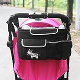 NuoYo Bocideal - Cochecito de Bolsa de Bebé Organizador, poner Buggy Cesta Botella Bolsas, Baby Carriage and Hanging Bag for the children, El Patrón :Cebra