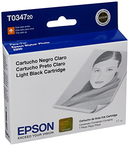 Epson T034720 Stylus Photo 2200 Light Black - Black Cartridge Ink 2200 Light