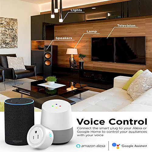 ADDWEL WiFi Smart Plug Mini Wireless Outlet Socket Compatible with Alexa Echo Google Home Assitant No Hub Required, Remote Control Your Devices Anywhere with Timing Function (2 Packs) by ADDWel (Image #2)