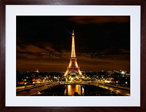 Eiffel Tower Night Lights Paris France Home Art Frame Print Picture F12X308