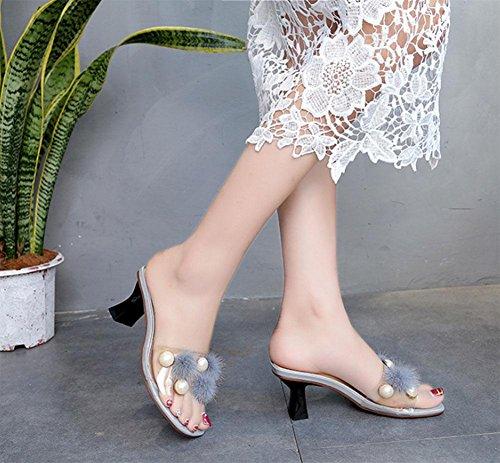Hausschuhe weiblich Wort gezogen Außerhalb tragen Wild Schuhe US6.5-7 / EU37 / UK4.5-5 / CN37