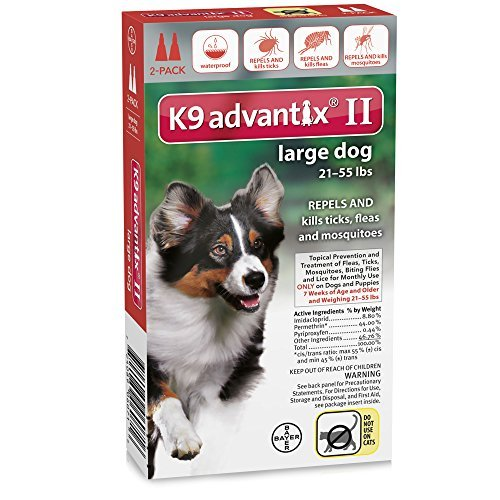 Advantix II Flea and Tick for Large Dogs 21-55 lbs 2 - Plus Advantix K9