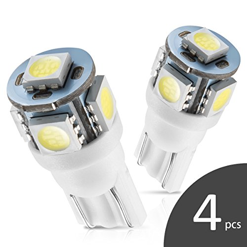 Marsauto 194 168 T10 2825 LED Light Bulbs for Car Dome Map Door Courtesy License Plate Lights (Pack of 4)