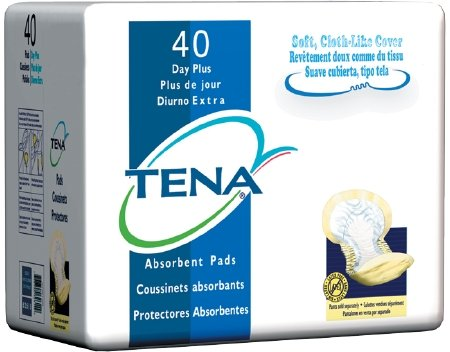 TENA Day Plus 62618 Bladder Control Pad Case of 80