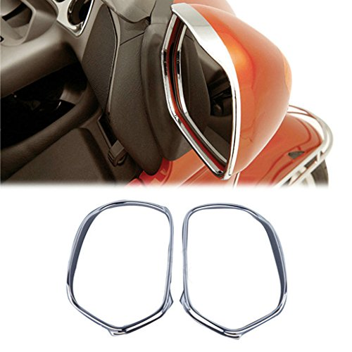 Wotefusi Motorcycle New 2 Pieces Pair ABS Chrome Rearview Mirrors Cover Molding Trims Frame Decoration For Honda GL1800 Goldwing 2006-2011 2007 2008 2009 2010 ()