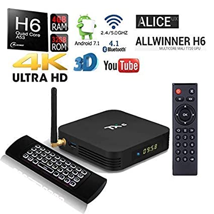 Amazon.com: Allwinner H6 TX6 HDR 32GB/4GB Bluetooth Dual ...