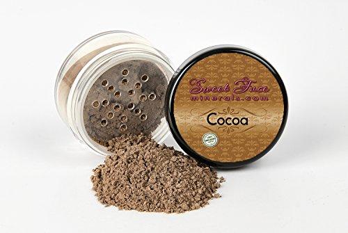 - COCOA FOUNDATION Sample to Bulk Sizes Mineral Makeup Matte Jar Bare Face Powder Sheer Natural Cover (5 Gram Sample Jar)