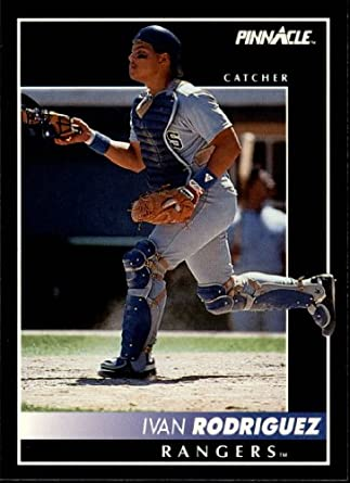 Amazoncom 1992 Pinnacle Baseball Card 156 Ivan Rodriguez Mint