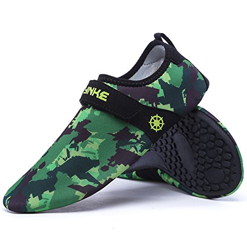 Camouflage Green Water Z Shoes SUO Dry Exercise Yoga Women Swim Surf Beach Men For and Kids Aqua Quick Socks wFTUqwH
