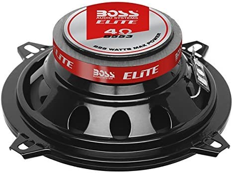 Sold in Pairs BOSS Audio Systems Elite B553 5.25 Inch Car Speakers 225 Watts of Power Per Pair 112.5 Watts Each 3 Way