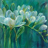 Portfolio Canvas Décor 35 by 35-Inch Printed Wall Art Painting, Large, Freesia Blues II by Carson