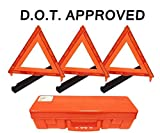 3-Pack Big Rig Emergency Roadside Warning Triangle Reflector (D.O.T. Approved)