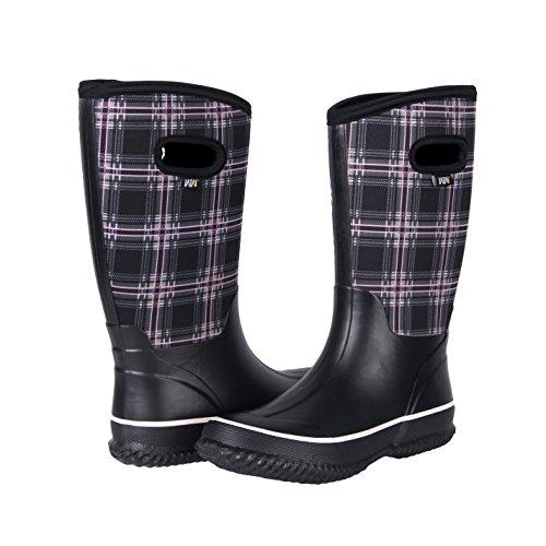 WTW Frauen Neopren Gummi Schnee Stiefel für Damen Winnter Warm Douglas Modern