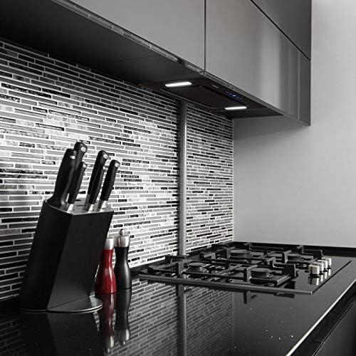 Klarstein HEKTOR - Extractor de humos, Extractor bajo mueble, Autoapagado, Panel táctil, Iluminación de la cocina, Hasta 530 m³/h, 2 filtros de carbóno activo, 52 x 30 x 30 cm, Negro: Amazon.es: Hogar