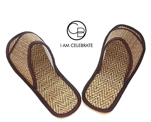 1 pair Beige / Slippers home from natural materials - A classic tone Premium goods from the country of Thailand Sewing by hand.