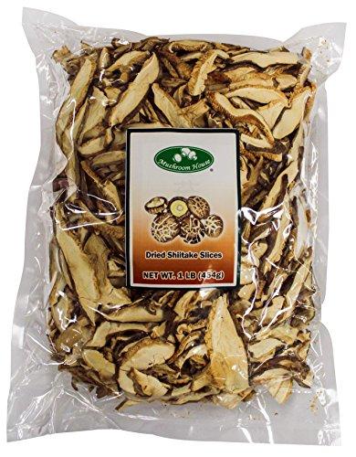 (Mushroom House Dried Shiitake Mushroom Slices, 1 Pound)