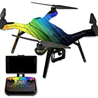 MightySkins Protective Vinyl Skin Decal for 3DR Solo Drone Quadcopter wrap cover sticker skins Rainbow Streaks