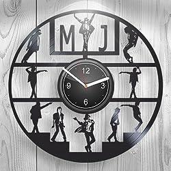 Michael Jackson King of Pop Music Fans Gift For Boyfriend Girlfriend Wall Art, New Handmade Vinyl Wall Clock Decor, Office Decoration For Living Room Inspirational, Best Present Silent Mechanism