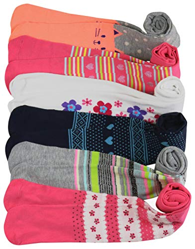 ToBeInStyle Girl's Pack of 6 Assorted Design Winter Tights (Medium, Assorted) ()