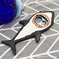 Sacacorchos 1 unid abridor de botellas de cerveza tiburón imán 3D lindo animal de dibujos animados imán nevera cerveza botella herramientas herramientas imán pegatinas