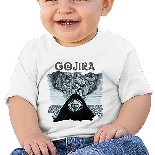VAP Baby Gojira Magma Cover Infant T-Shirt White 6 M