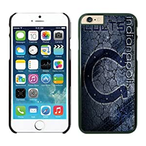 Indianapolis Colts Case For iPhone 6 Plus Black 5.5 inches