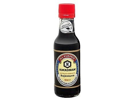 Kikkoman - Salsa de soja - Naturalmente fermentada - 150 ml - [Pack de 3