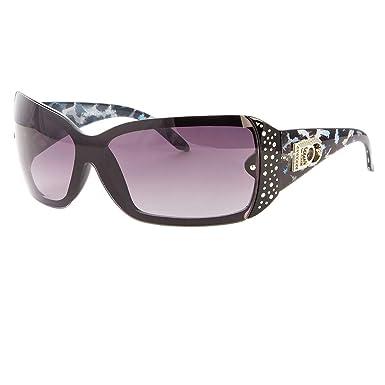 1f4f413a8d Amazon.com  DG Eyewear Womens Mens Shield Rhinestone Designer Sunglasses  Fashion Retro Wrap  Clothing