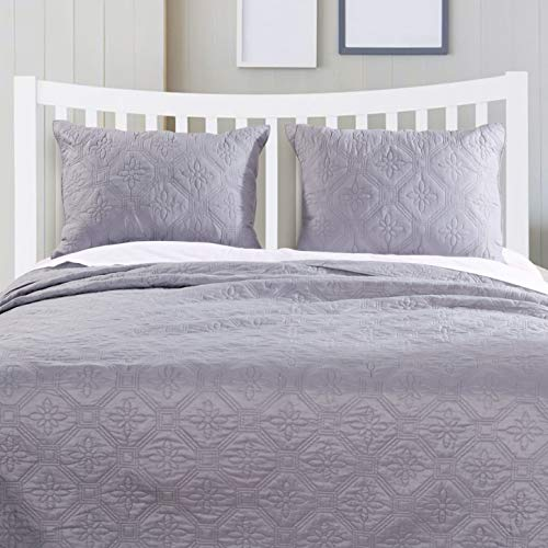Barefoot Bungalow Central Park Bedspread Set, Queen, Stone Gray Central Park Queen Bed