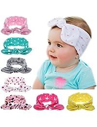 Itaar Baby Girls Headbands Set Turban Knotted Hairband