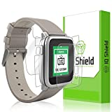 Pebble Time Steel Screen Protector, IQ Shield LiQuidSkin Full Body Skin + Full Coverage Screen Protector for Pebble Time Steel HD Clear Anti-Bubble Film - with