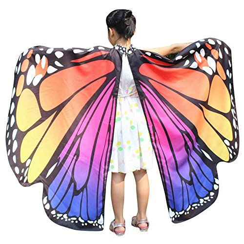 Forthery Party Costume, Kids Girls Butterfly Wings Shawl